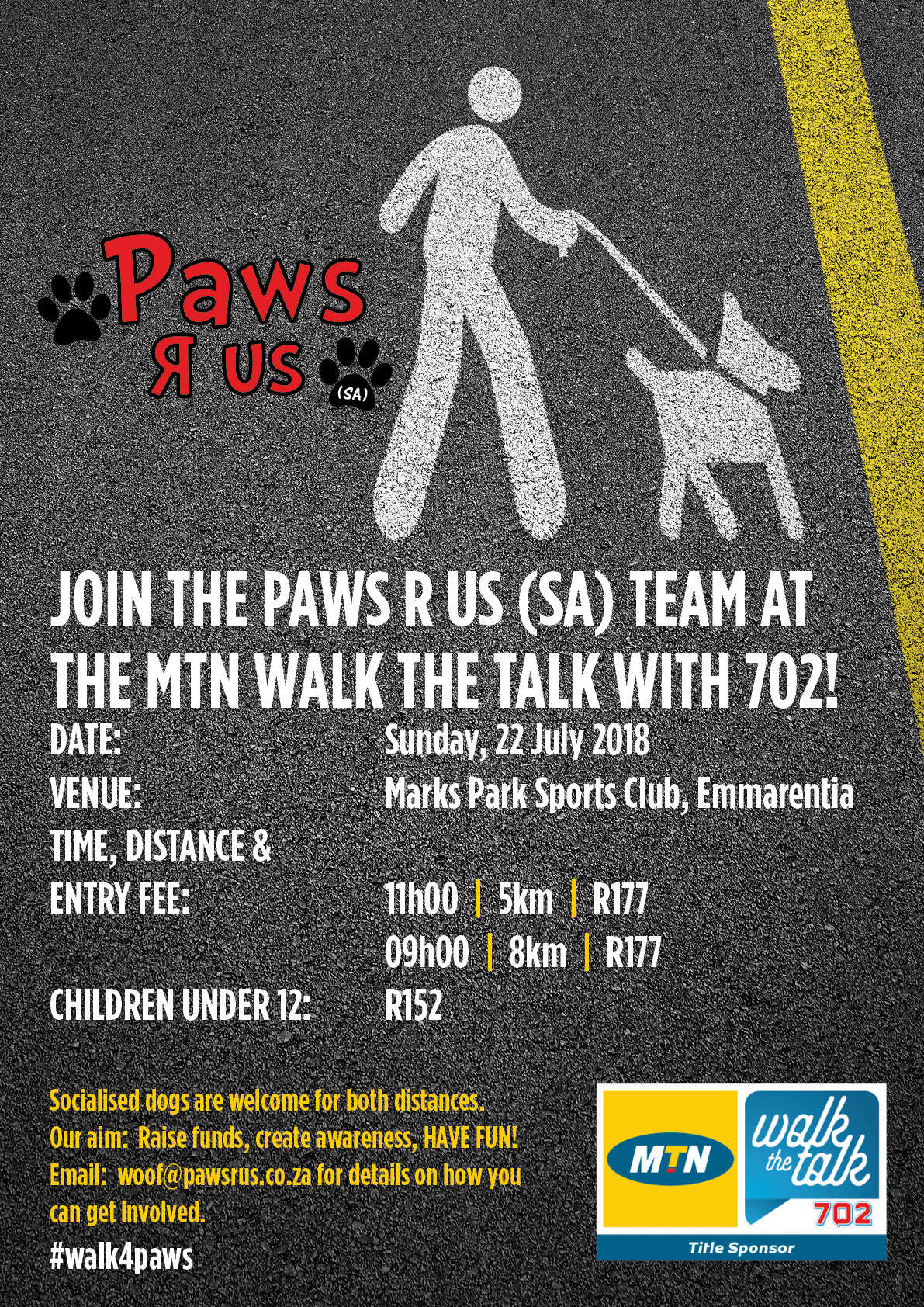 Join the Paws R Us (SA) Team at The MTN Walk The Talk with